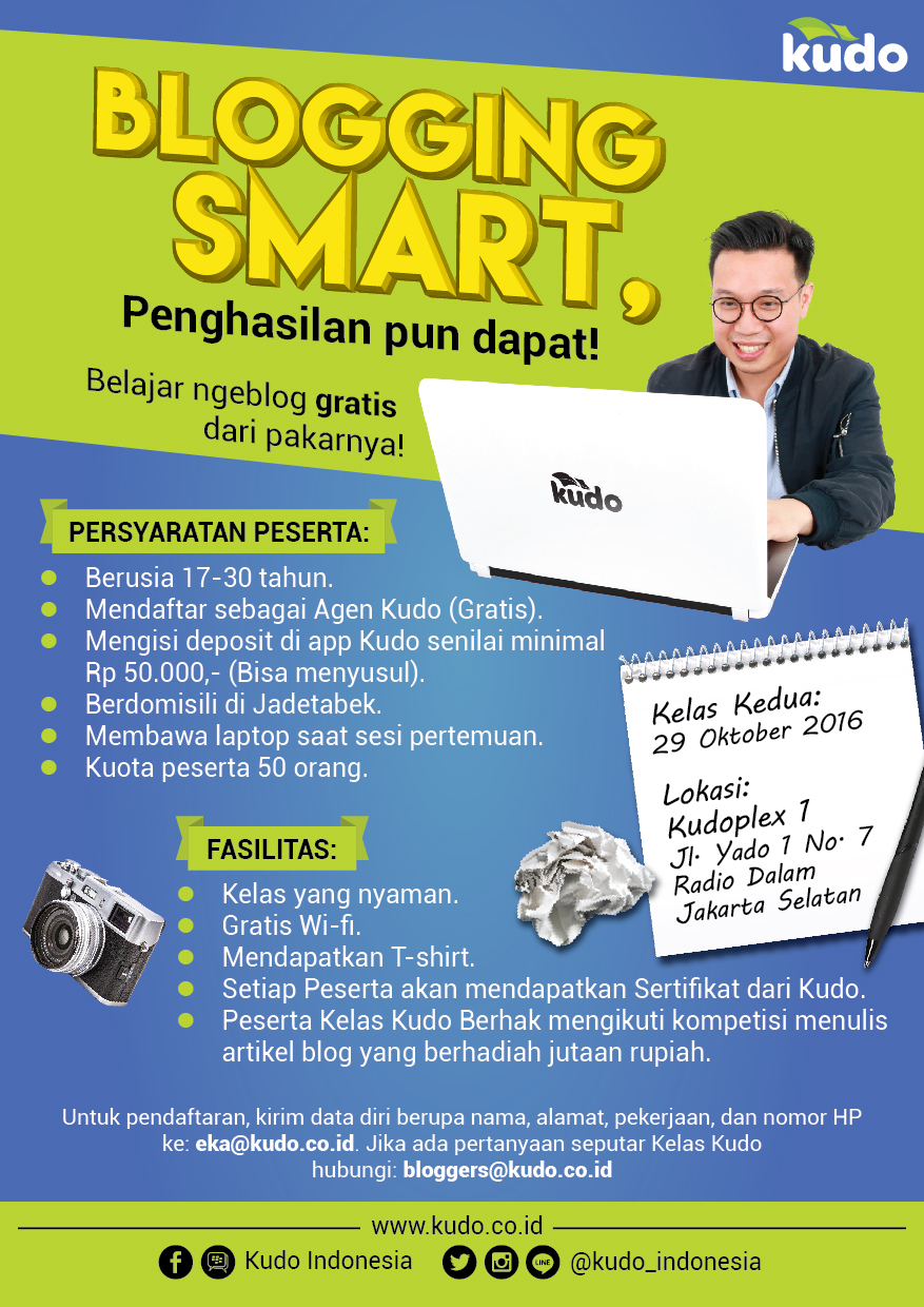 Kelas Kudo: Blogging Smart!